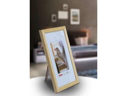 Fotorámeček dřevěný 9x13 TRAVELLER II- přírodní