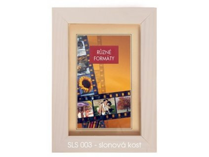 Fotorámeček dřevěný SLS 18x24 - 03 slonová kost - sleva rýha