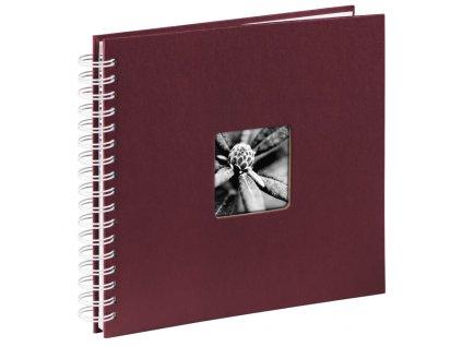 Scrapbook Fotoalbum na spirále pro tvořivou úpravu BORDO - poškozaný roh
