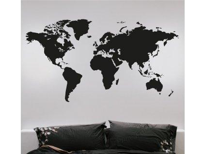 samolepky na zed mapa sveta 2