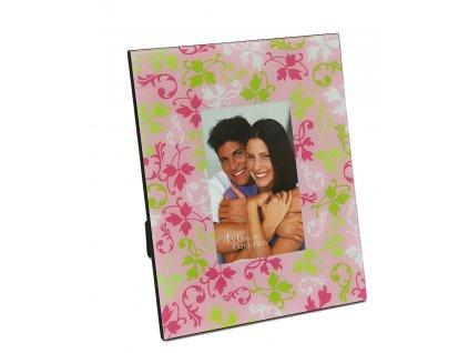 Fotorámeček 10x15 cm kovový - Květy