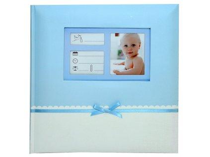 Fotoalbum na růžky 24X24 cm STUHA modré