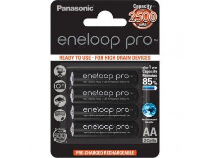 panasonic eneloop rechargeable battery pro aa 2500 2bp