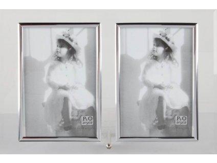 Fotorámeček 2 x 9x13 cm výška oblouk