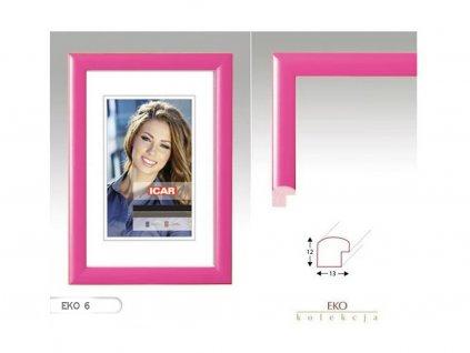 Fotorámeček dřevěný DRW H 10x15 - 06 růžový
