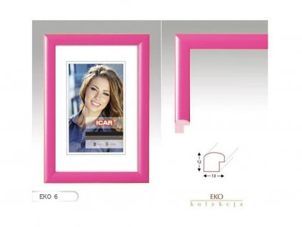 Fotorámeček dřevěný DRW H 13X18 - 06 růžový