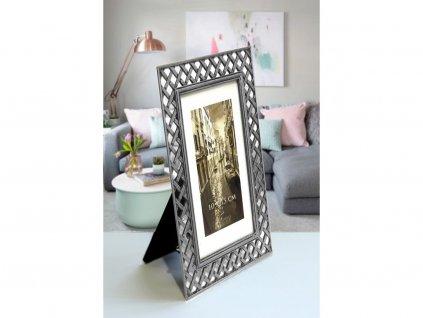 Fotorámeček kovový - 10X15 RM 0946 stříbrný