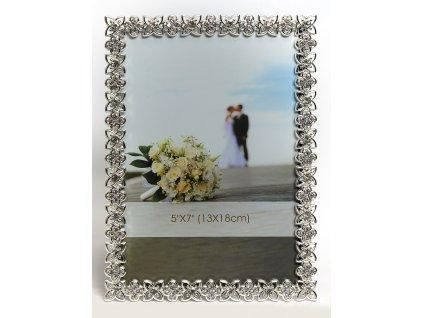 Fotorámeček 10x15 cm stříbrný - CHAGALL