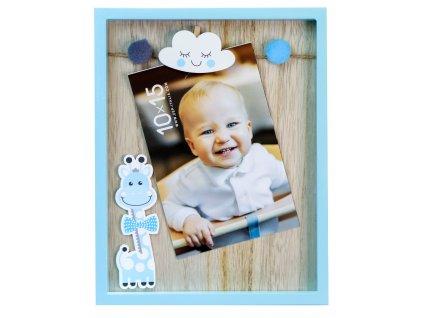 Fotorámeček dětský - Žirafa modrá