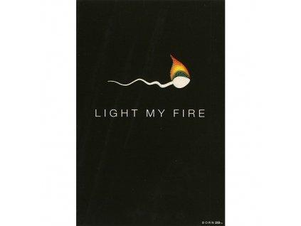 Vtipné blahopřání Born 2B - LIGHT MY FIRE
