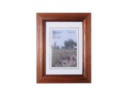 Fotorámeček 13x18 dřevěný HAMA - tmavý dub
