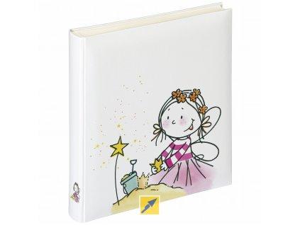 Dětské fotoalbum na růžky 50 stran - Walther Fee bílý