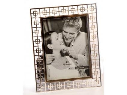 Fotorámeček 13x18 Hofmann - stříbrný