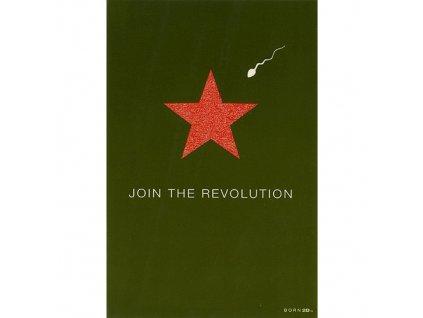Vtipné blahopřání Born 2B - JOIN IN THE REVOLUTION