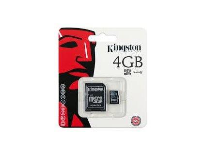 Paměťová karta  Kingston micro SDHC, 4GB CLASS 4