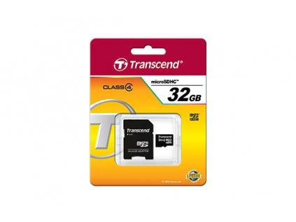 Paměťová karta microSDHC TRANSCEND 32GB CLASS 4