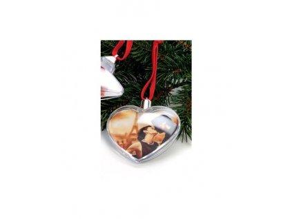 Vánoční ozdoba ve tvaru srdce na 2 foto