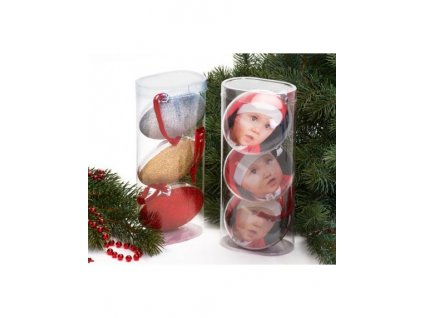 Set tří vánočních ozdom koule průměru 8,7cm