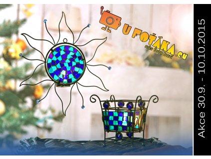 Svícen Sunchi modrý  SADA
