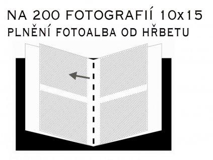 Fotoalbum 10X15/200 - classic bez popisu modrý