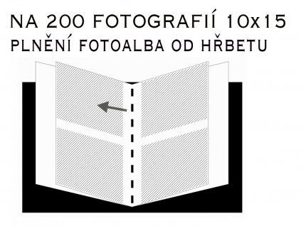 Fotoalbum 10X15/200 - classic bez popisu hnědý