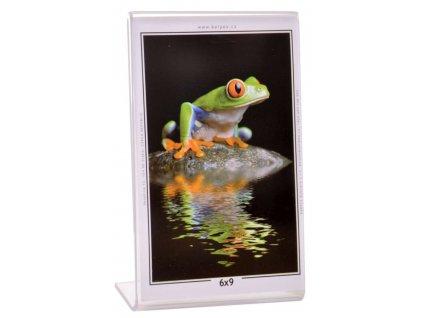 Fotorámeček 45x60  mm akrylový - stojánek na výšku