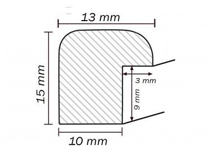 Fotorámeček 10x15 NOTTE 06 plast vínový