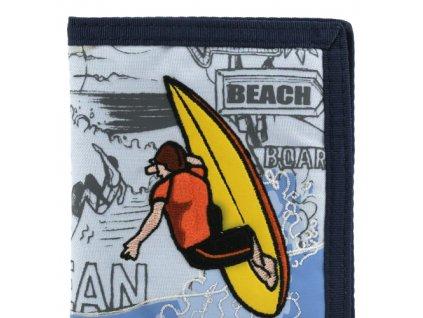 Peněženka chlapecká barva modrá Surfař