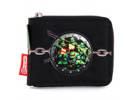 Peněženka hlapecká Řetěz a 3D nášivka želváků Ninja