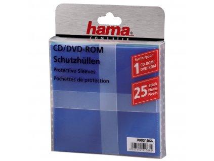 Hama ochranný obal pro CD/DVD, 25ks/bal, barevný mix