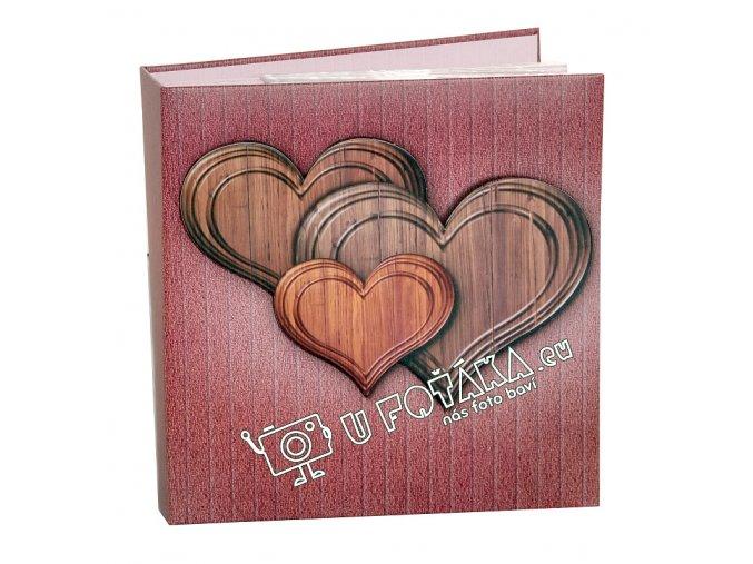 Fotoalbum 10x15/200 - valentýnské srdce červené