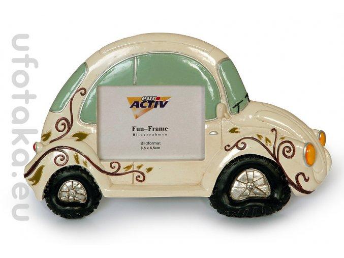 Rámeček Fun Frame - Bílé auto 8,5x6,5cm
