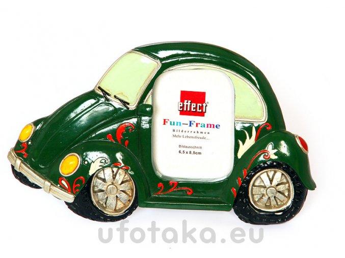 Rámeček Fun Frame - Zelené auto 6,5x8,5cm