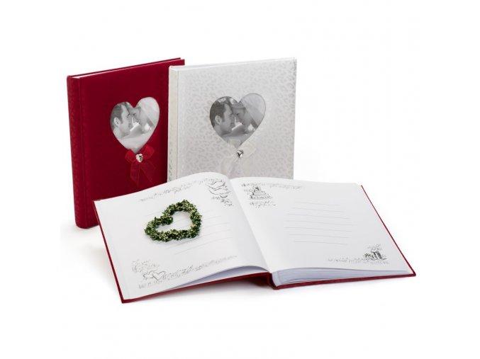 Svatební fotoalbum na růžky 60 stran - KPH Happy end červené