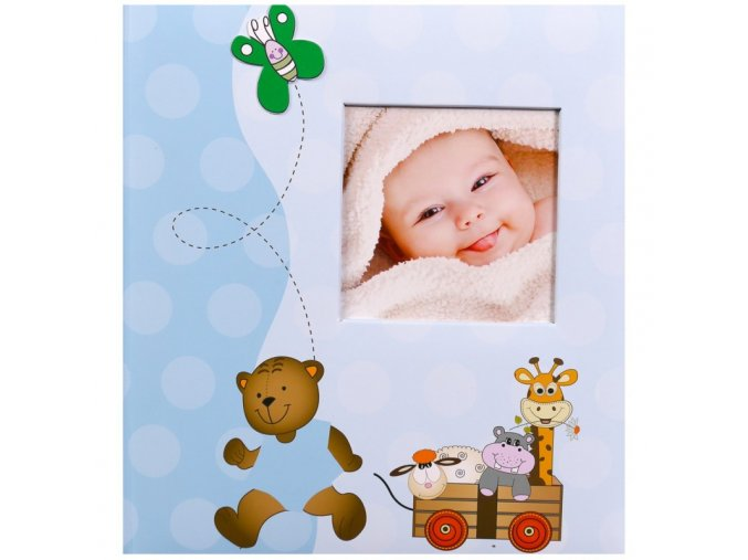 Dětské fotoalbum na růžky 60 stran - Gedeon Cheerful modrý
