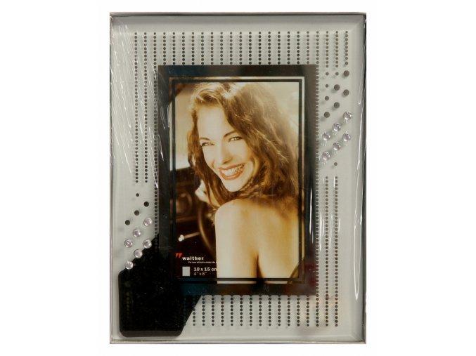 Fotorámeček 10x15 walther cristal - zrdcadlový