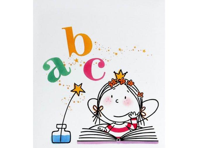 Dětské fotoalbum na růžky 50 stran - Princezna písmenka