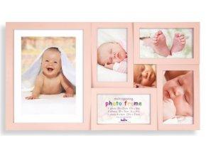 Dětský fotorámeček na více fotek, Maggiore růžový - 6 fotografií