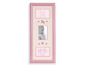 Dětský fotorámeček na více fotek Baby Brights růžový - 3 fotografie