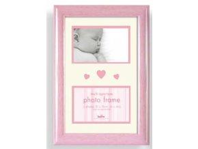 Dětský fotorámeček na více fotek Baby Brights růžový - 2 fotografie