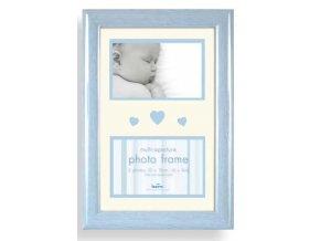 Dětský fotorámeček na více fotek Baby Brights modrá - 2 fotografie