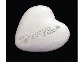 Valentýnské dekorace - srdce 60x60mm POLYSTYREN