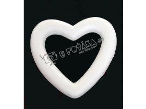 Valentýnské dekorace - srdce 110x110mm POLYSTYREN