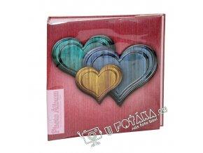 Fotoalbum 10x15/200 - valentýnské srdce modré