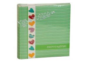 Fotoalbum 10x15/200 zelené - srdce
