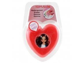 Guma červené srdce - se světélkem Top Model
