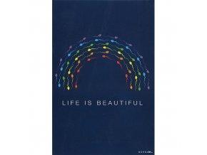 Vtipné blahopřání Born 2B - LIFE IS BEAUTIFUL