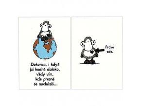 Přání Sheepworld VÍM KDE JSI