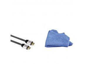 Hama USB 2.0 kabel, typ A - mini B, 1,8 m, kovové konektory, 5*