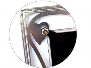 Fotorámeček 10x15 cm stříbrný - GLOSSY 46 8